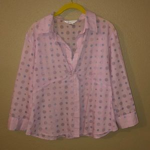 Pink with pink & blue dots blouse